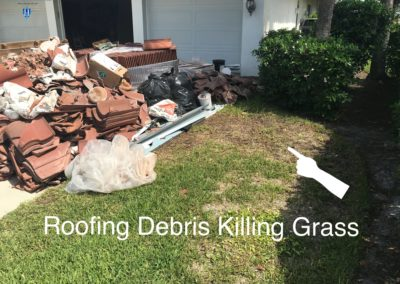 HWSE - Roofing Debris Killing Grass